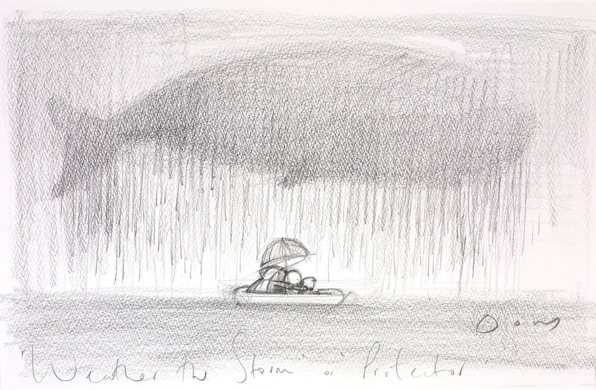 Weather the Storm / Protector (Study I) by doug hyde -  sized 13x9 inches. Available from Whitewall Galleries